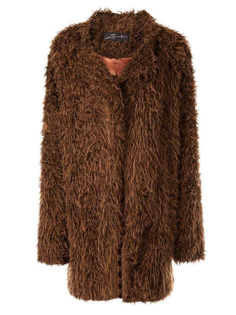 Zambesi Socialite faux fur coat - Brown