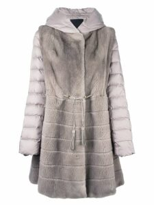 Liska mink fur hooded puffer coat - Neutrals