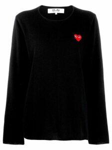 Comme Des Garçons Play heart motif sweater - Black