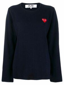 Comme Des Garçons Play heart logo patch sweater - Blue