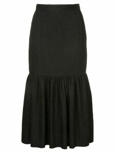 Rebecca Vallance Francesca ruffle midi skirt - Black