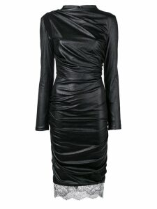Tom Ford faux-leather fitted dress - Black