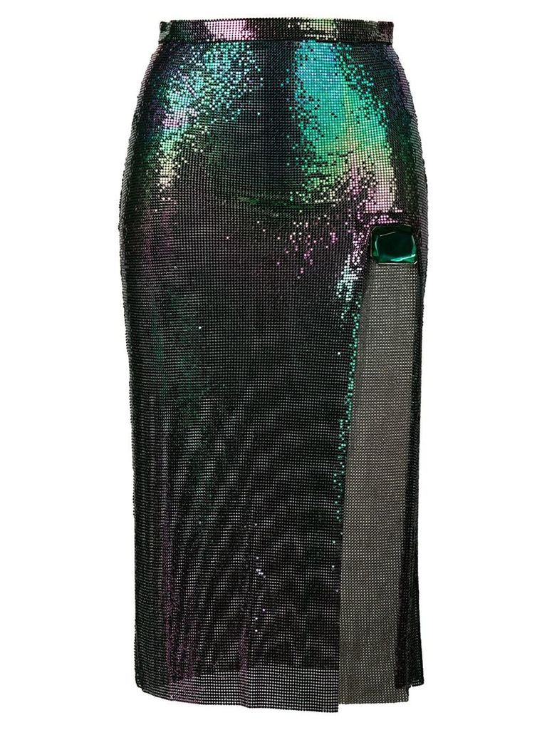 Christopher Kane chainmail skirt - Green