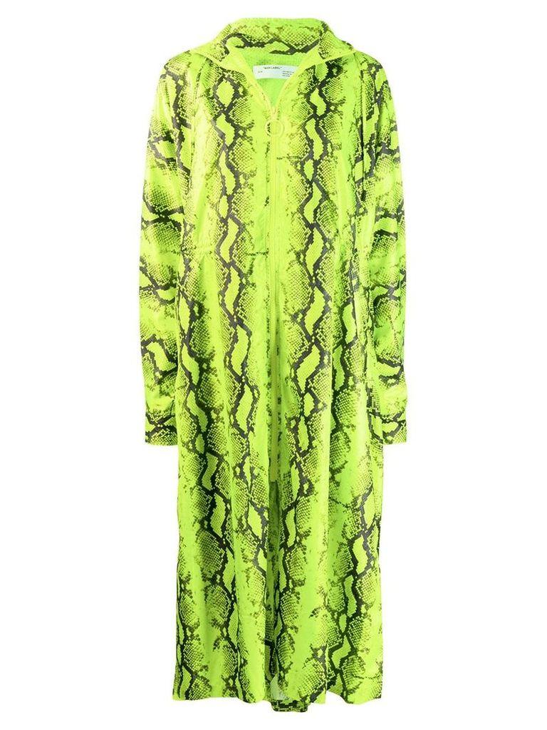 Off-White snakeskin print raincoat - Yellow