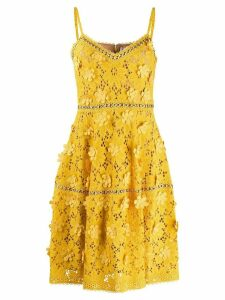 Michael Michael Kors floral appliqué lace dress - Yellow