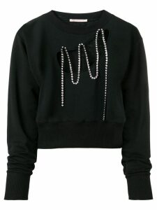Christopher Kane squiggle cupchain sweatshirt - Black