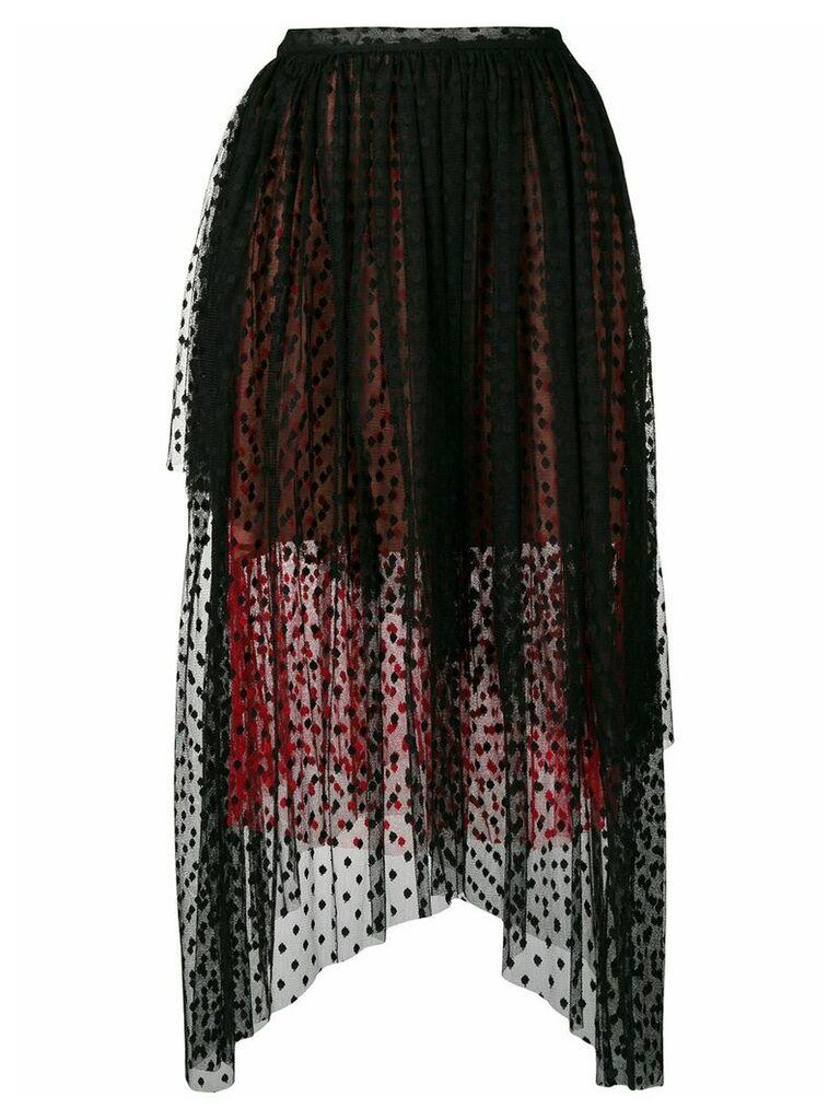 Christopher Kane dot tulle gathered skirt - Black
