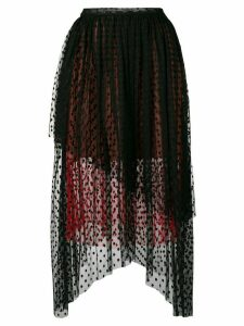 Christopher Kane dot tulle gathered skirt - Black