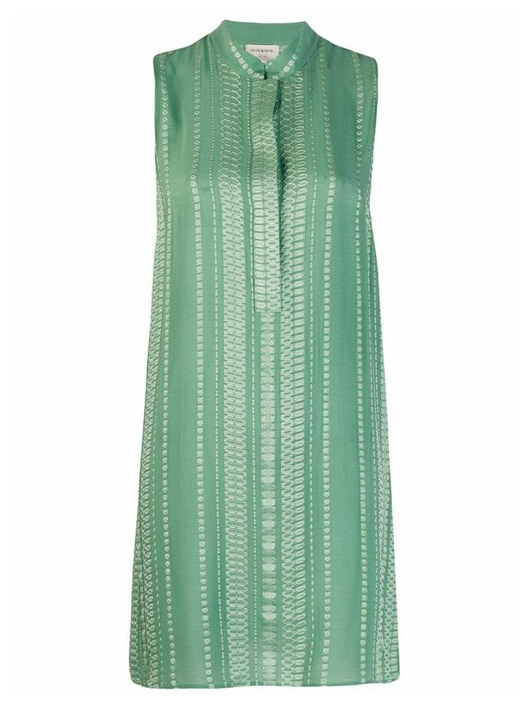 Zeus+Dione Hera embroidered mini dress - Green