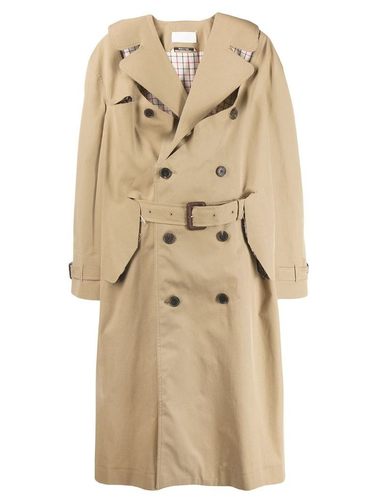 Maison Margiela oversized trench coat - Neutrals
