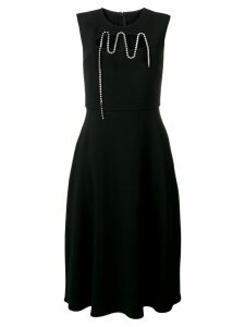 Christopher Kane squiggle cupchain crepe dress - Black