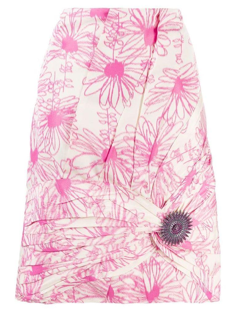 Calvin Klein 205W39nyc floral pink skirt