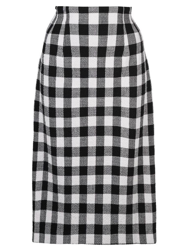 Veronica Beard gingham midi skirt - Black