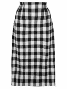 Veronica Beard gingham midi skirt - Black