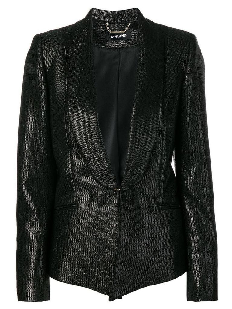 Styland metallic blazer jacket - Black