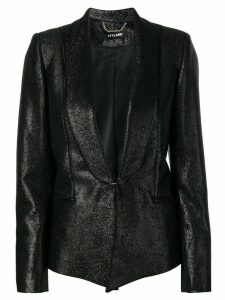 Styland metallic blazer jacket - Black