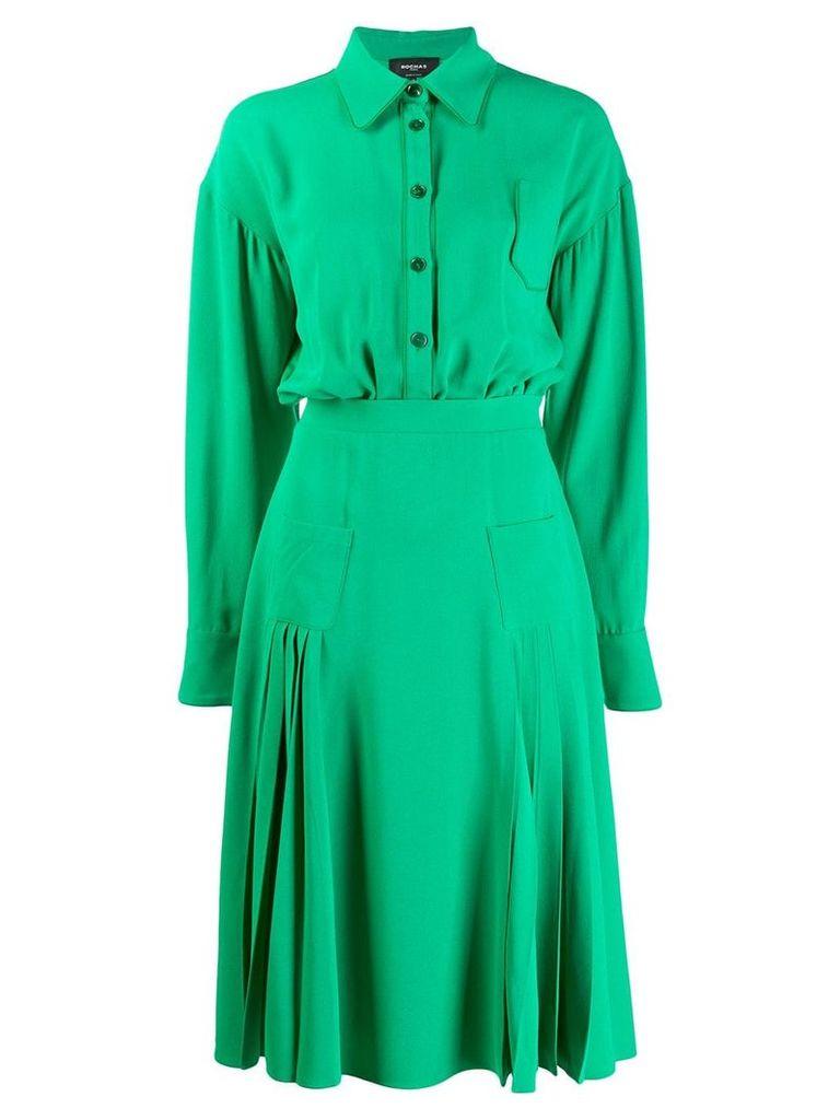 Rochas lightweight shirt dress - Green