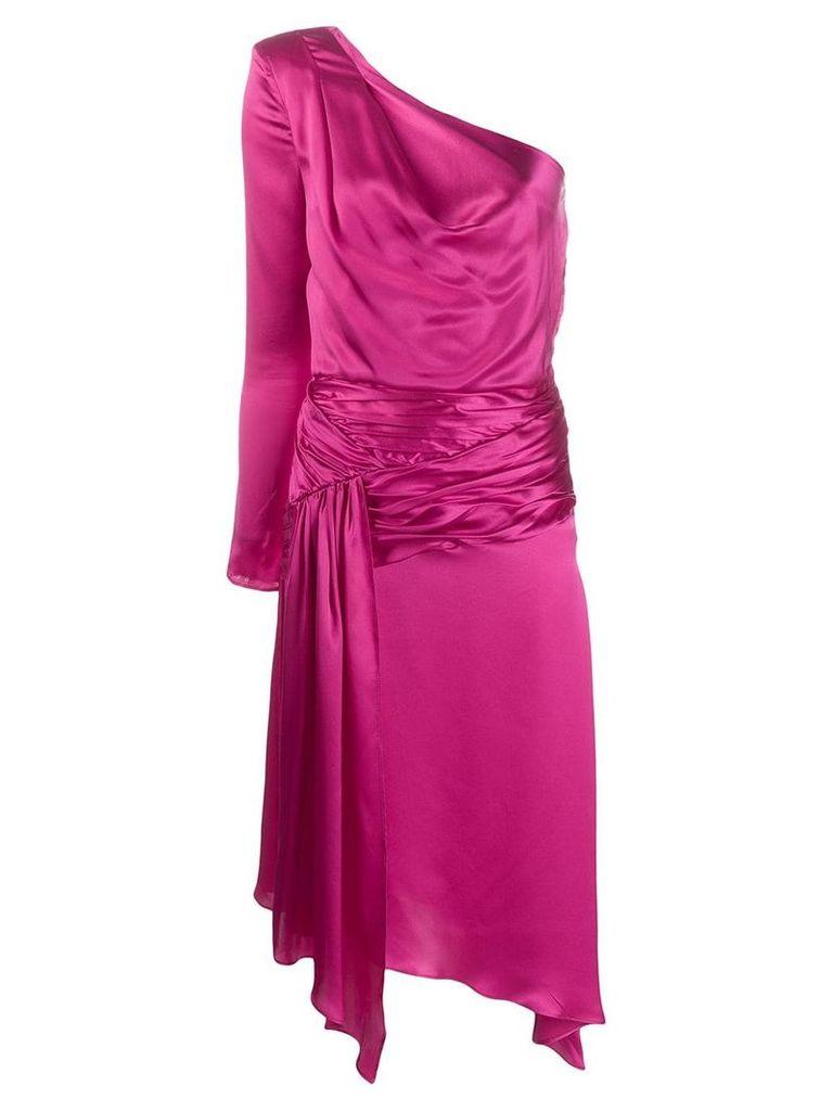 Each X Other one-shoulder asymmetric midi dress - Pink