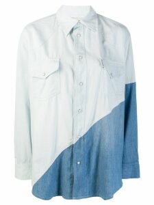 Each X Other two-tone denim shirt - Blue