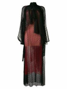 Christopher Kane dot tulle gathered dress - Black