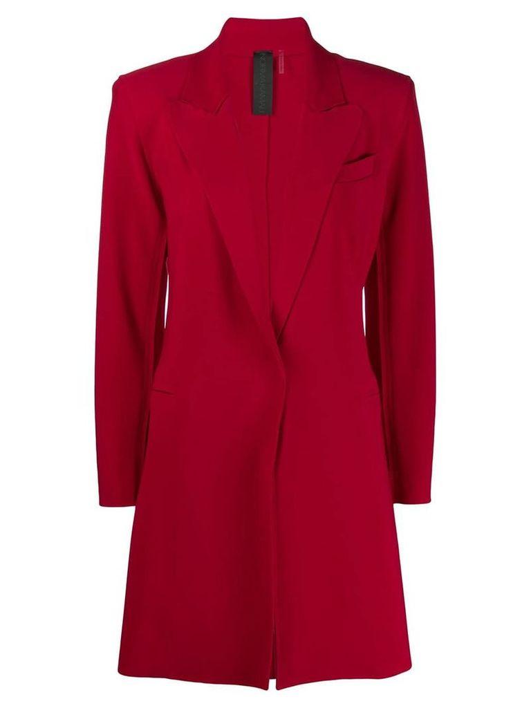 Norma Kamali single breasted coat - Red
