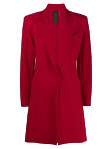 Norma Kamali single breasted coat - Red