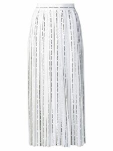 Off-White logo pinstripe pleated skirt