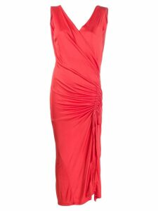 Each X Other ruched side dress - Red