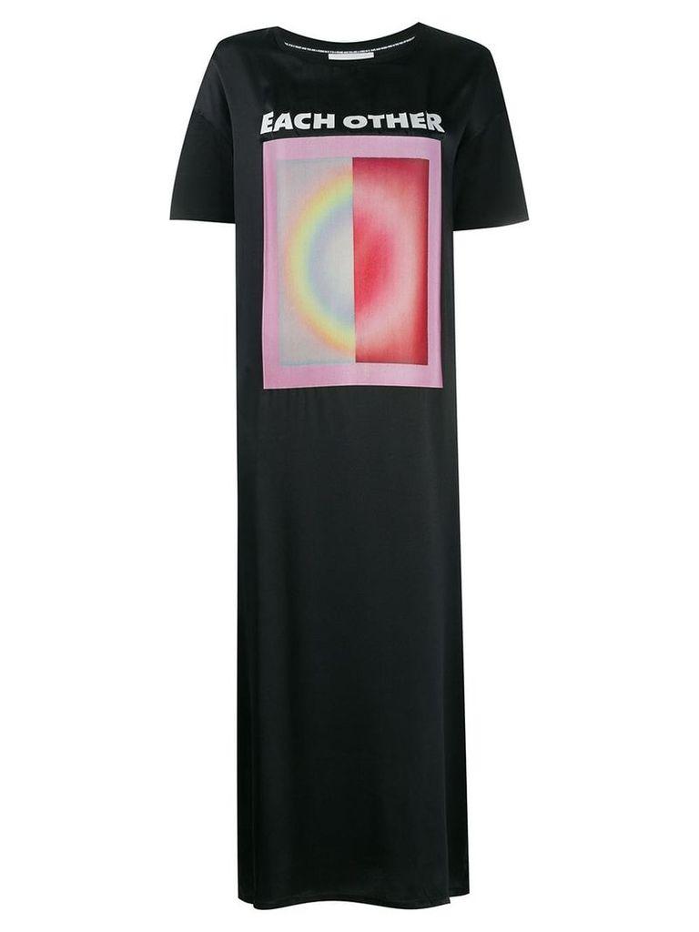 Each X Other printed T-shirt dress - Black