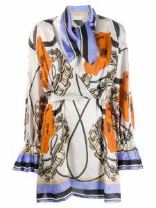 Each X Other printed wrap mini dress - Neutrals