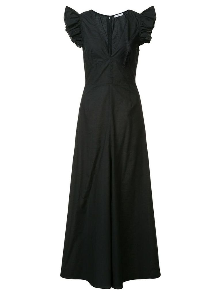 Tome long ruffle sleeve dress - Black