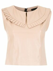 Andrea Bogosian leather blouse - Neutrals