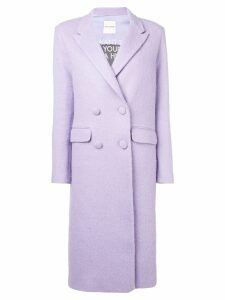 Each X Other oversized double breasted coat - Pink