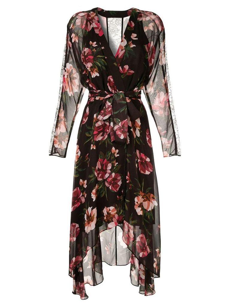 GINGER & SMART Fragment wrap dress - Black