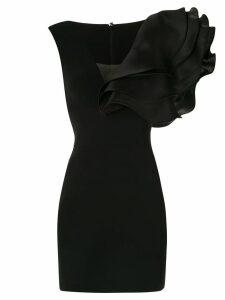 Isabel Sanchis oversized ruffle dress - Black