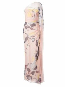 Zuhair Murad floral one shoulder gown - Pink