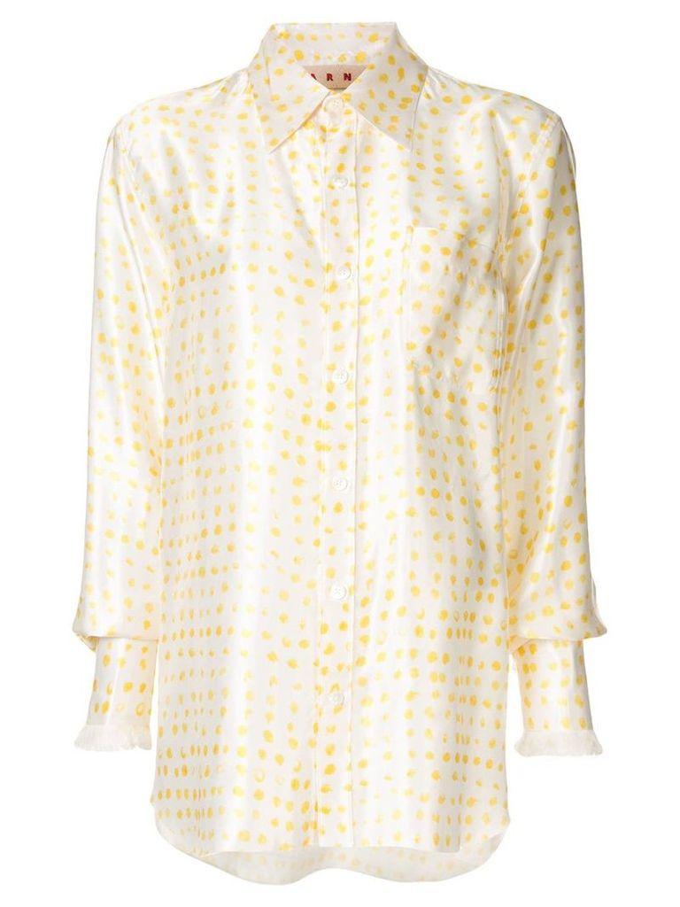 Marni dotted shirt - White