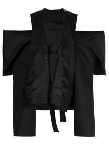 Rick Owens peeled sleeve trench coat - Black