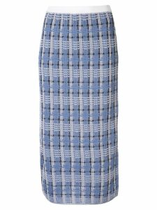 Le Ciel Bleu check knit skirt - Blue