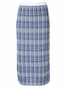 Le Ciel Bleu check knit skirt - Blue