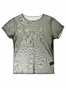 Tu es mon TRÉSOR Sun And Moon mesh T-shirt - Black