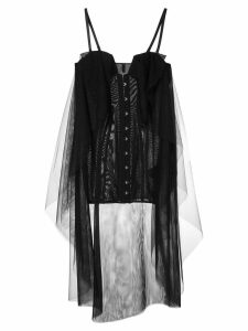 Unravel Project layered corset dress - Black