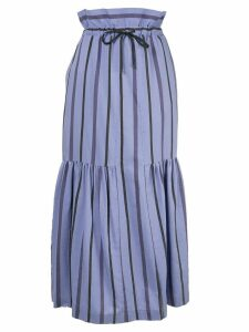 Ujoh striped high waisted skirt - Purple