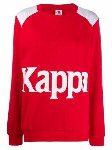 Kappa logo print sweatshirt - Red