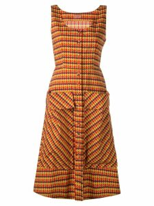 Lhd check print dress - Brown