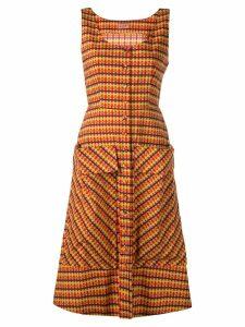 Lhd check print dress - Brown
