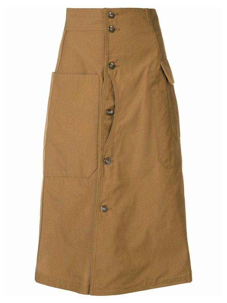 G.V.G.V. canvas skirt - Brown