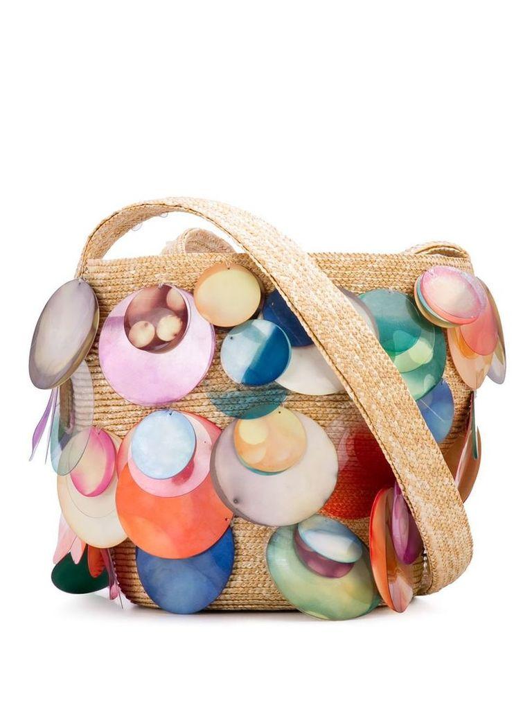 Rosie Assoulin watercolor disk shoulder bag - Multicolour
