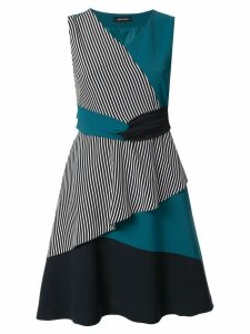 Loveless colour block layered dress - Blue