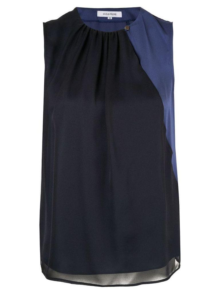 Guild Prime diagonal stripe blouse - Blue